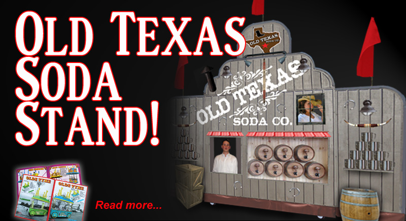 Old texas Soda Kiosk